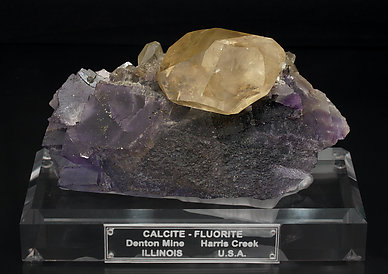 Calcite with Fluorite. Front