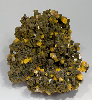 Wulfenite on Mottramite.