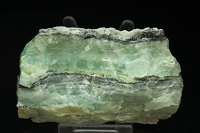 Calcite with Aurichalcite inclusions (variety zeiringite). Front