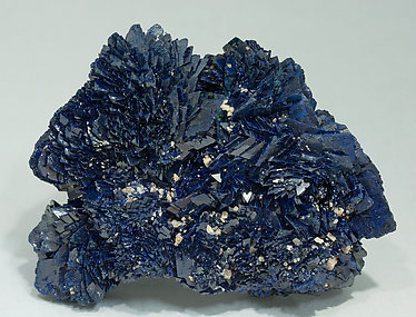 Azurite with Calcite. Front