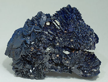 Azurite with Calcite. Rear