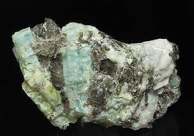 Beryl with Quartz, Orthoclase and Muscovite.