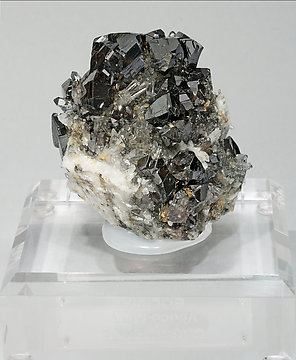 Cassiterite with Quartz. Rear
