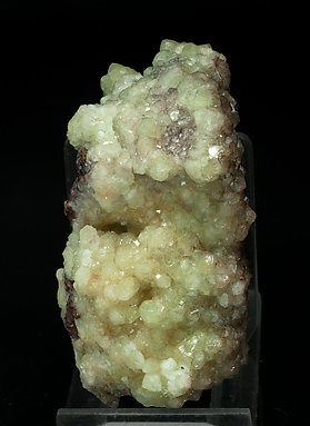 Smithsonite with Cuprite inclusions. Front