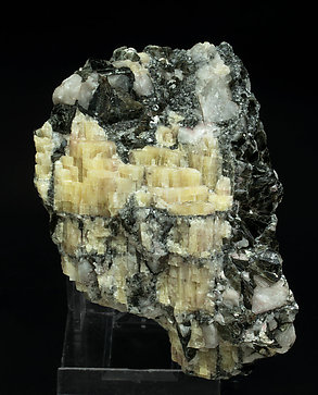 Topaz (variety pycnite) with Zinnwaldite and Quartz. Front