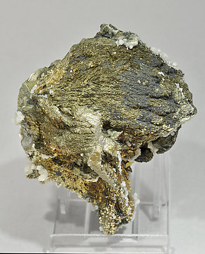 Arsenopyrite with Stannite, Calcite and Pyrite.