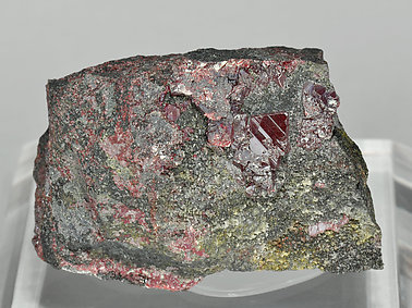 Cinnabar with Mercury and Quartz.