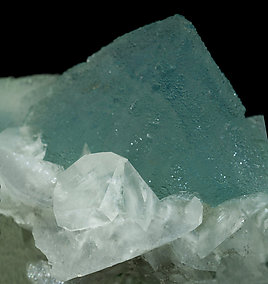 Octahedral Fluorite with Calcite.