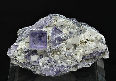 Fluorite with Baryte and Calcite.