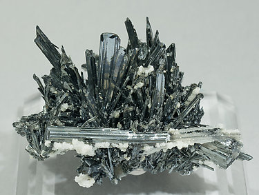Stibnite with Calcite. Front