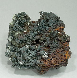 Baryte with Goethite.
