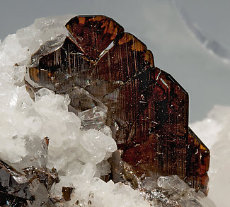 Brookite with Quartz.