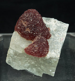Elbaite (variety rubellite) with Calcite.