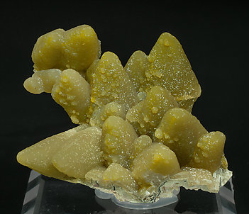 Smithsonite pseudo Calcite with Calcite.