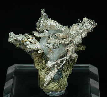 Silver with Actinolite.
