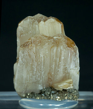 Valentinite with Pyrite. Front