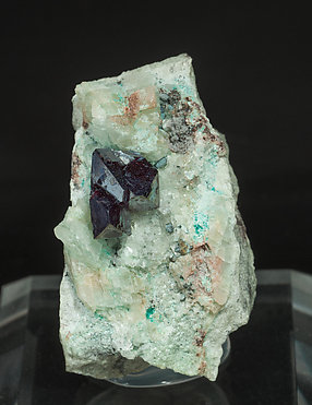 Cuprite with Calcite and Chrysocolla.
