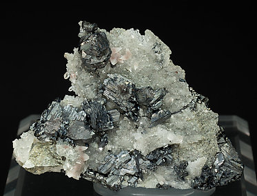 Djurleite with Bornite and Quartz.