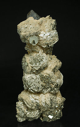 Quartz with Siderite and Pyrite. Rear