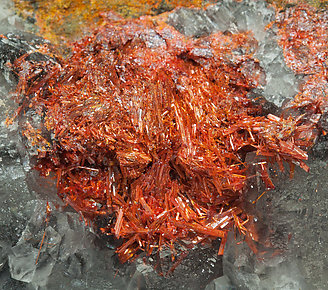 Realgar with Calcite.