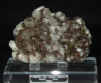 Axinite-(Fe) with Quartz and Epidote.