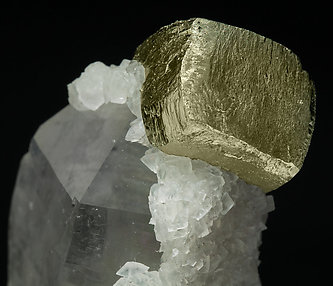 Pyrite with Calcite-Dolomite and Quartz.