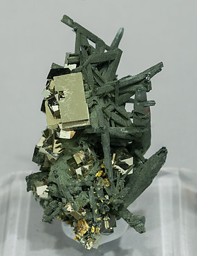 Quartz with Chlorite and Pyrite. Front