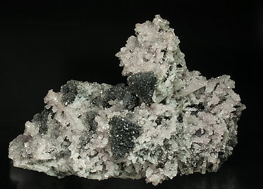 Tennantite with Smithsonite and Quartz.