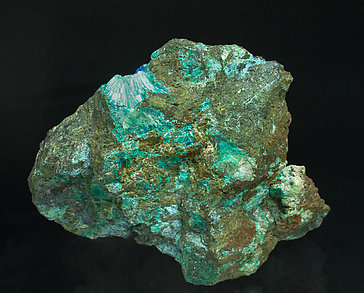 Tyrolite with Conichalcite and Azurite.