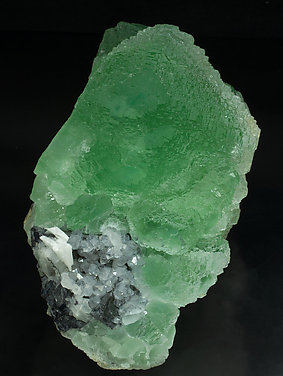 Fluorite with Quartz, Galena and Baryte. Side