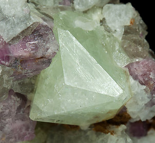Rubidium-rich Rhodizite with Elbaite and Danburite.