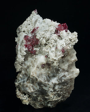 Cinnabar with Quartz and Calcite. Front