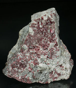 Cinnabar with Mercury and Calcite.