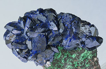 Azurite with Malaquite.