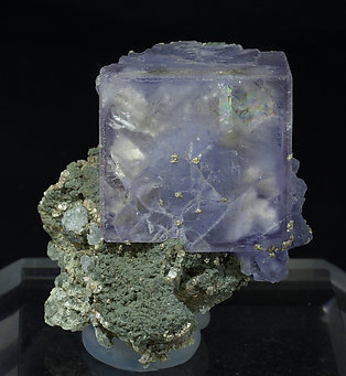 Fluorite with Topaz, Muscovite and Chlorite.