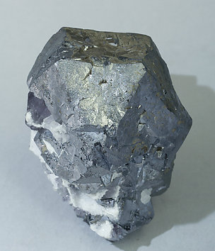 Galena with Pyrite and Fluorite. Side