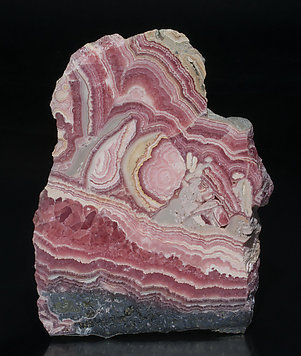 Rhodochrosite with Manganite.