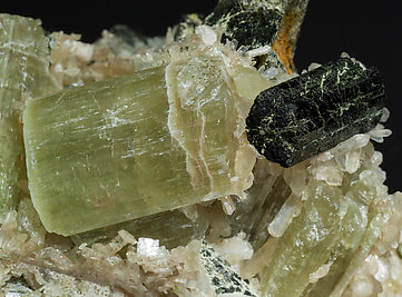 Fluorapatite with Stilbite and Arfvedsonite.
