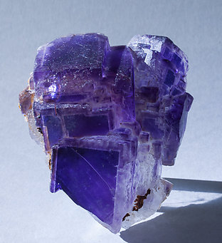 Fluorite. Light behind