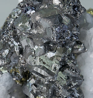Tennantite with Quartz and Chalcopyrite.