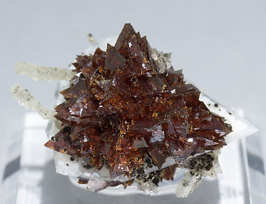 Helvine-Genthelvite with Quartz and Calcite. Front