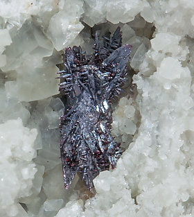 Pyrargyrite with Calcite.