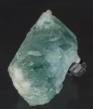 Octahedral Fluorite with Cassiterite. Front