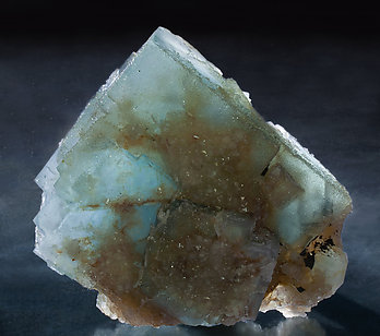 Fluorite with Quartz. Light behind