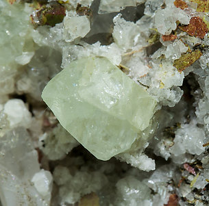 Scheelite with Wollastonite, Epidote and Amphibole.