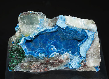 Shattuckite with Malachite and Quartz.